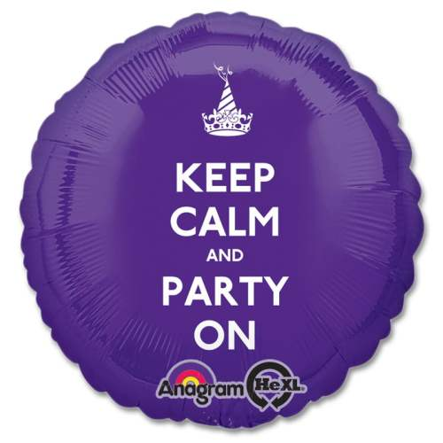 Keep Calm Party On Mylar Party Ballon from Balloons Shop NYC