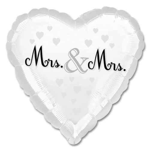Mrs & Mrs Wedding Heart Balloon from Balloons Shop NYC