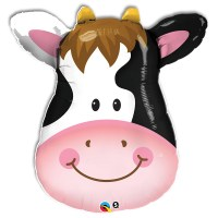 Smiling Cow Foil Mylar Balloon from Balloon Shop NYC