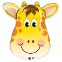 Smiling Giraffe Foil Mylar Balloon from Balloon Shop NYC