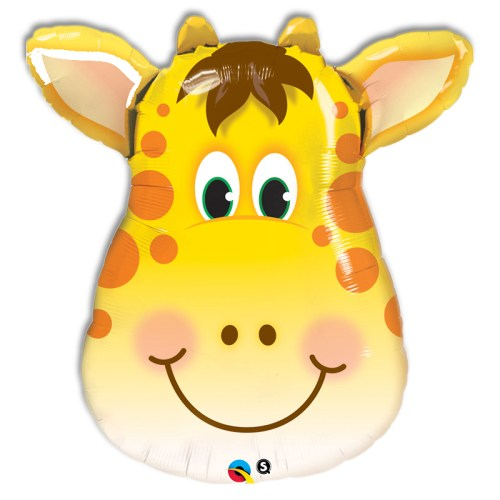 Smiling Giraffe Foil Mylar Balloon from Balloon Shop NYC