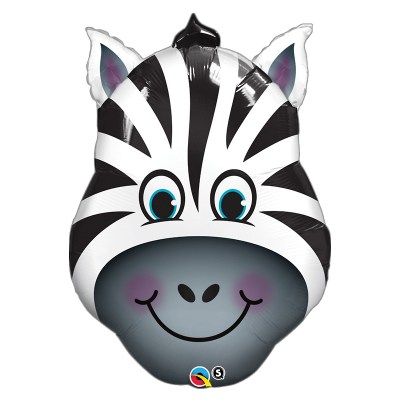 Smiling Zebra Foil Mylar Balloon from Balloon Shop NYC