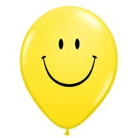 Smile Face Yellow Latex 12 inch Party Balloon from Balloon Shop NYC