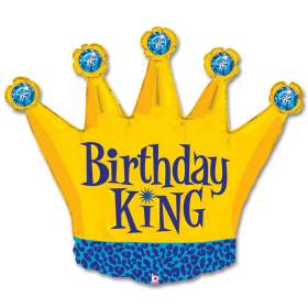 Birthday King Party Mylar Balloon 36 Inch from Balloon Shop NYC