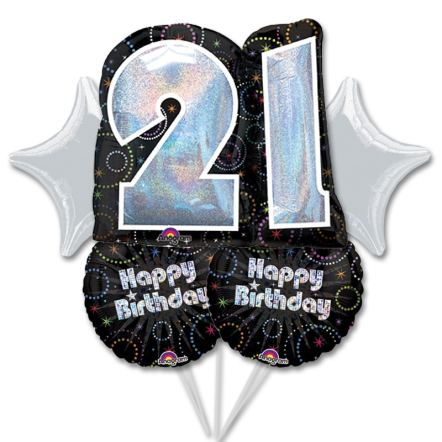 Balloon Bouquet 21 Birthday form Balloons Shop NYC