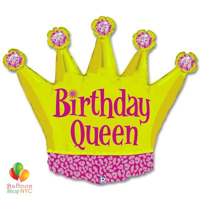 Birthday Queen Party Mylar Balloon 36 inch Inflated high-quality cheap balloons nyc delivery