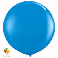 Bright Blue Latex Party Balloon 17 inch Inflated delivery Balloon Shop NYC