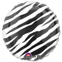 Black Zebra Mylar Party Balloon Bouquet from Balloons Shop NYC