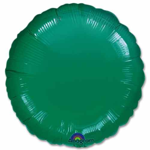 Emerald Green Circle 18 Mylar Party Balloon from Balloons Shop NYC