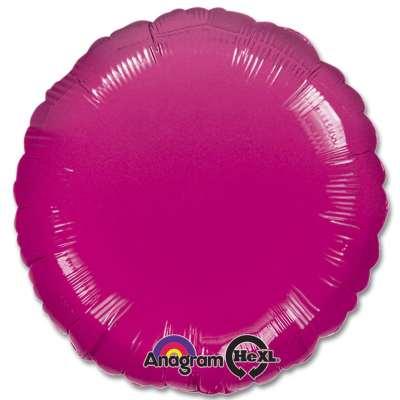 Fuchsia Circle 18 Mylar Party Balloon from Balloons Shop NYC