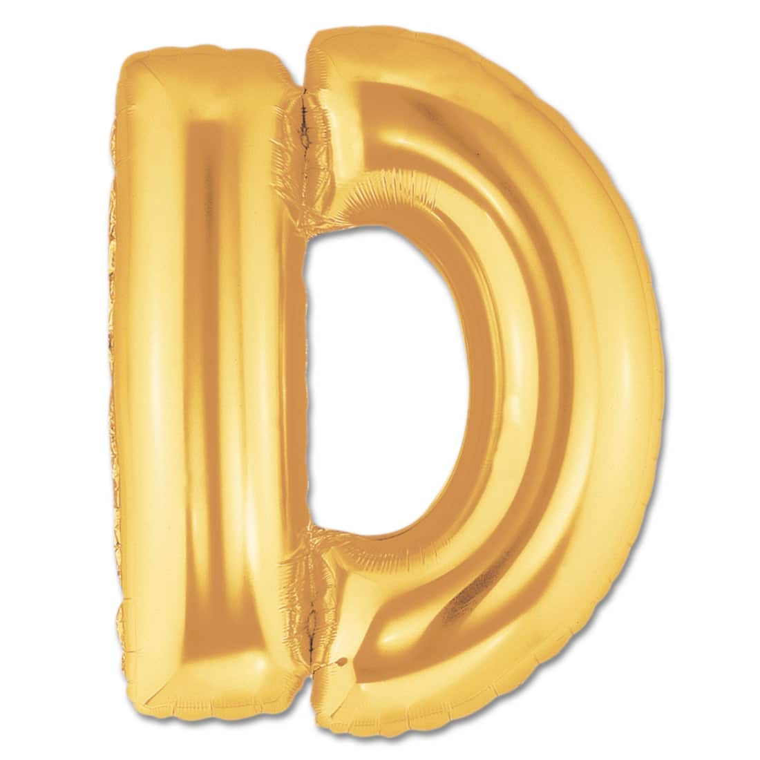 letter d gold giant foil balloon 40 inch inflated