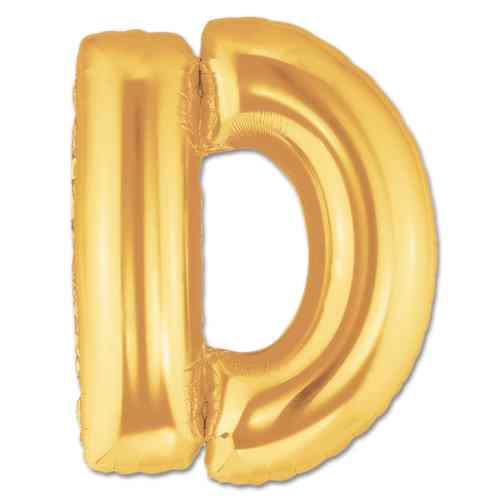Jumbo Foil Gold 40 inch Letter D Balloon from Balloons Shop NYC