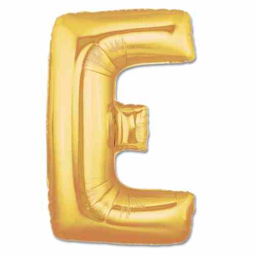 Jumbo Foil Gold 40 inch Letter E Balloon from Balloons Shop NYC