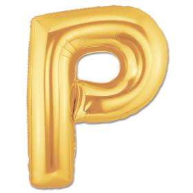 Jumbo Foil Gold 40 inch Letter P Balloon from Balloons Shop NYC
