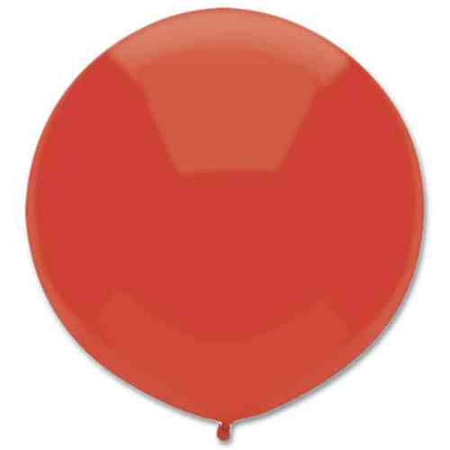 Latex Party Balloon 17 Round Real Red from Balloons Shop NYC