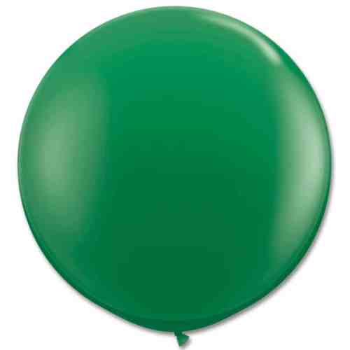 Latex Party Balloon 36 Inch Round Green from Balloons Shop NYC
