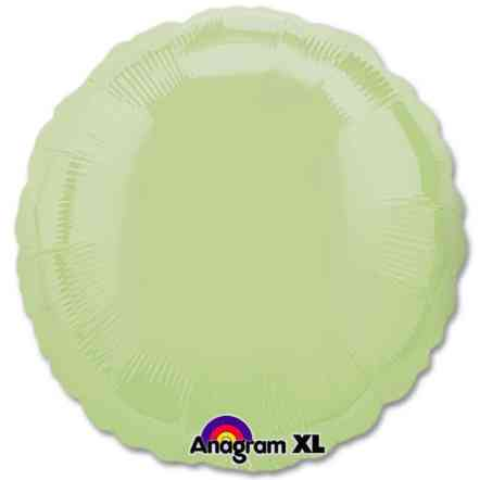 Leaf Green Circle 18 Mylar Party Balloon from Balloons Shop NYC