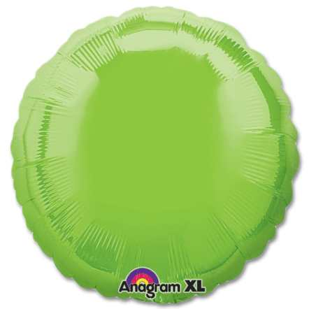 Lime Green Circle 18 Mylar Party Balloon from Balloons Shop NYC