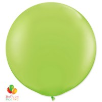 Lime Green Latex Round Party Balloon 17 inch Inflated Delivery Balloon Shop NYC