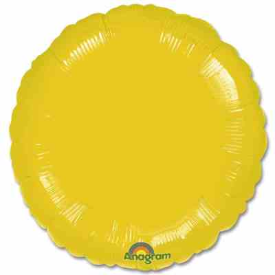 Metallic Yellow Circle Foil Party Balloon 18 Inch Inflated high-quality cheap balloons nyc delivery
