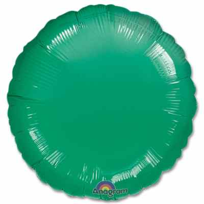 Metallic Green Circle 18 Mylar Party Balloon from Balloons Shop NYC
