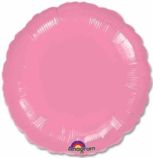 Metallic Pink Circle 18 Mylar Party Balloon from Balloons Shop NYC