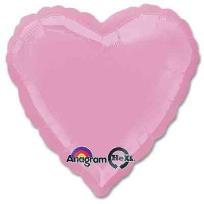 Metallic Pink Heart Shape 18 Inch Mylar Party Balloon from Balloons Shop NYC