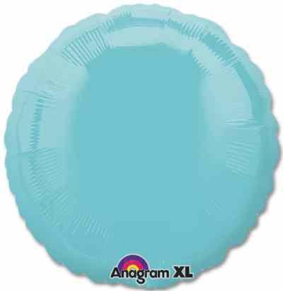 Metallic Robins Egg Blue Circle 18 Mylar Party Balloon from Balloons Shop NYC