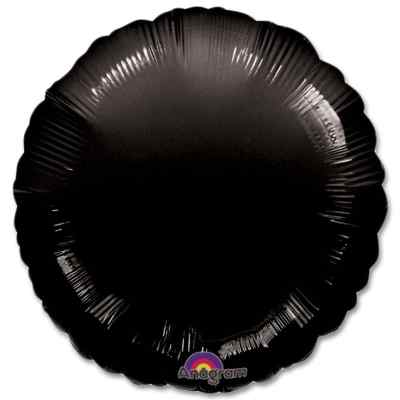 Opaque Black Circle 18 Mylar Party Balloon from Balloons Shop NYC