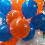 Orange Blue and White Balloons Bouquet