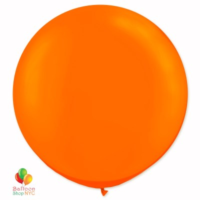 Bright Orange Latex Party Balloon 17 inch Inflated delivery Balloons Shop NYC