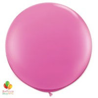 Passion Pink Round Latex Party Balloon 17 inch Inflated high-quality cheap balloons nyc delivery Balloon Shop