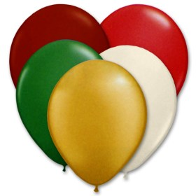 Ultimate Christmas Latex Party Balloons 12 inch from Balloon Shop NYC