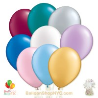 Ultimate Pearl Assorted Colors 12 inch Latex Balloons Bouquet high-quality cheap balloons nyc delivery