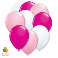 Ultimate Pink 12 inch Latex Party Balloons Bouquet high-quality cheap balloons nyc delivery