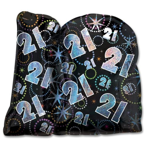 A Time To Party 21 Birthday 27 inch Party Balloon back view from Balloons Shop NYC