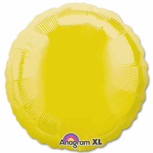 Yellow Circle 18 Mylar Party Balloon from Balloons Shop NYC