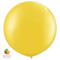 Yellow Latex Party Balloon 24 inch Round Inflated Helium cheap balloons NYC delivery