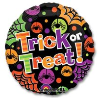 Halloween Trick or Treat Spiders 18 inch Mylar Balloon from Balloons Shop NYC