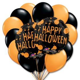 Halloween Splatter w 13 Latex Balloons Bouquet from Balloons Shop NYC