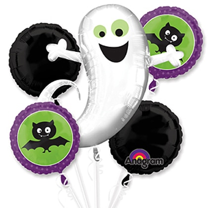 Halloween Ghost Bat Party Balloon Bouquet Inflated from Balloons Shop NYC