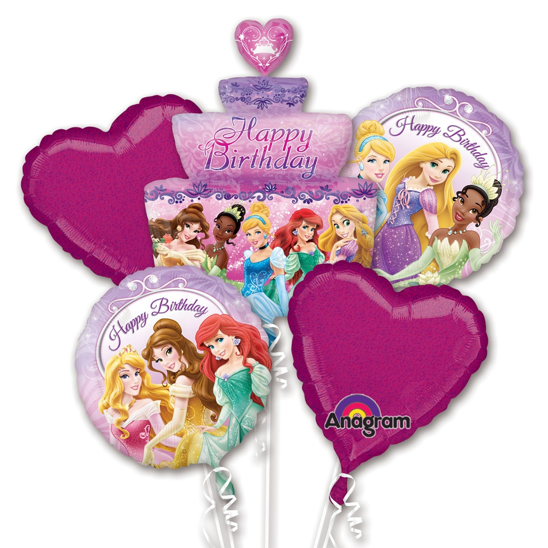 Disney Princess Birthday Cake Balloon Bouquet From Balloon