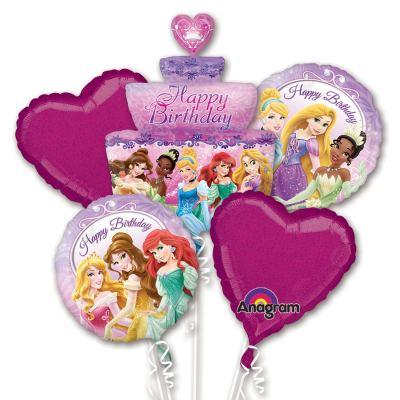 Disney Princess Birthday Cake Balloon Bouquet from Balloon Shop NYC