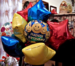 Boy's 7th Birthday Balloon Bouquet