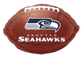 Super Bowl - Seahawks Seattle Football Mylar Balloon From Balloon Shop NYC