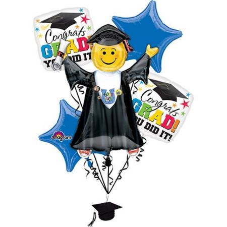 Bright Grad You Did It Balloon Bouquet from Balloon Shop NYC30474-01
