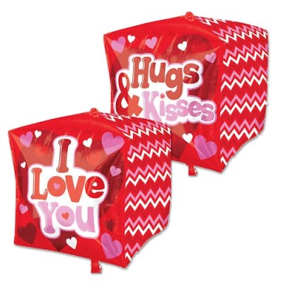 Hugs Love and Kisses Cubz Mylar Balloons from Balloon Shop NYC