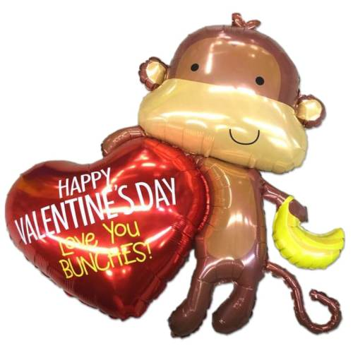 Love You Bunches Valentines Day Mylar Party Balloon from Balloon Shop NYC