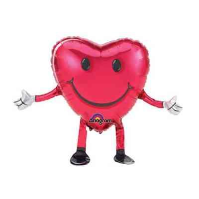 Valentines Day Mylar Balloon Airwalker Buddies Happy Hugs 26 inch from Balloon Shop NYC