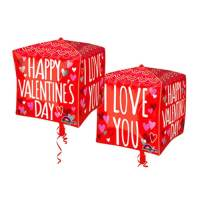 Valentines Day Mylar Balloon Cubez Sketchy Scallops delivery from Balloon Shop NYC